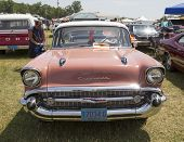 1957 Pink Chevy Bel Air Front View