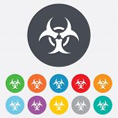 stock photo of biohazard symbol  - Biohazard sign icon - JPG