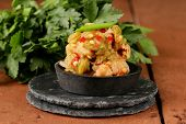 picture of kimchi  - Korean traditional salad cabbage kimchi with hot pepper - JPG