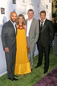 Amaury Nolasco and Rebecca Gayheart with Eric Dane and Jason Lewis  at the 7th Annual Chrysalis Butt
