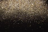 Gold and silver glitter abstract background
