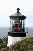 picture of mear  - Climb a measly 28 steps to the top of the beautifully restored Cape Meares Lighthouse for great views - JPG