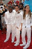 Chikezie Eze with David Hernandez and Jason Castro  at the American Idol 2008 Grand Finale. Nokia Th