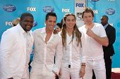Chikezie Eze and David Hernandez with Jason Castro and Michael Johns  at the American Idol 2008 Gran