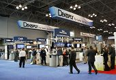 Dentsply booth at the Greater NY Dental Meeting in New York