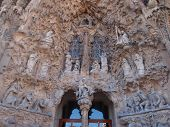 Nativity facade of Sagrada Familia, Barcelona, Spain