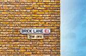Brick Lane street sign in London - UK