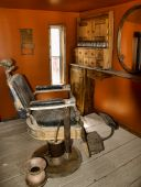 Old Barber Chair