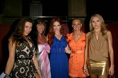 L-R Alicia Arden, DeeDee Bigelow, Phoebe Price, Katie Lohmann and Alana Curry  at the Preview Screen