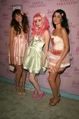 Anna Estella with Audrey Kitching and Grecia Valarie at the Pink Plastic Party of the Year celebrati