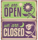 pic of moon-flower  - Retro door signs for flower shop or beauty salon - JPG