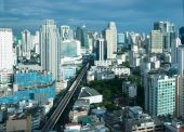 pic of nana  - The Sukhumvit area of Bangkok with the sky - JPG