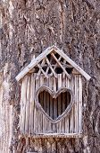 Birds House With Heart-shaped Entrance