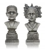 image of frankenstein  - Halloween Frankenstein Statues isolated over white background - JPG