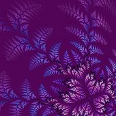Fabulous Asymmetrical Pattern Of The Leaves On Vinous Background. Computer Generated Graphics.