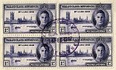 Vintage Falkland Islands Postage Stamp