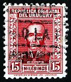 Postage Stamp Uruguay 1933 Juan Antonio Lavalleja, Revolutionary