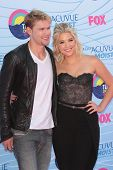 Chord Overstreet and Ashley Benson at the 2012 Teen Choice Awards Arrivals, Gibson Amphitheatre, Universal City, CA 07-22-12