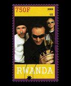 U2 Postage Stamp From Rwanda