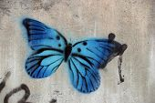 Blue Graffiti Butterfly