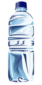 image of bottle water  - Illustration of a bottled mineral water isolated on white - JPG