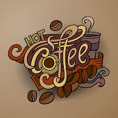 Vector coffee hand lettering