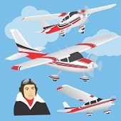 Planes with pilot