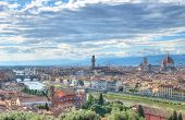 Florence skyline with the famous Cathedral Santa Maria del Fiore. Italy,