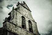 Dramatic Ancient Church Belfry