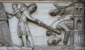 PARMA, ITALY - MAY 01, 2014: Beheading of St. John the Baptist on the baptistery from Benedetto Ante
