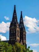 Twin Towers Of Basilica Of St Peter And St Paul In Vysehrad