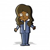 cartoon friendly business woman