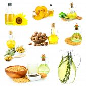 Oil collage, isolated on white