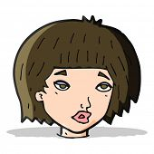 cartoon bored looking woman