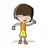 stock photo of attitude boy  - cartoon boy with positive attitude - JPG