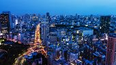 High Above City In Tokyo