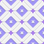 Diagonal Purple Floristic In Frame Pattern