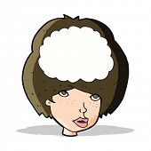 cartoon empty headed woman