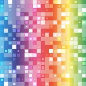 Abstract mosaic rainbow seamless pattern