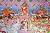 Krabi ,thailand - November 1 : Traditional Thai Mural Painting Of The Life Of Buddha (win The Mara)