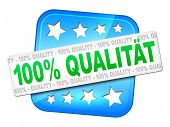 A quality guarantee in german language symbol for your website