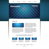 Website Template with Abstract Header Design - Grid Lines Pattern