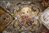 PARMA, ITALY - MAY 01, 2014: Fresco, St Lucia church. Church, originally known as St. Michael in the Channel is mentioned in documents in 1223, built in 1615 and dedicated to St. Lucia