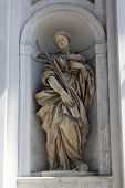 PARMA, ITALY - MAY 01, 2014: Saint Lucia statue, St Lucia church. Church, originally known as St. Mi