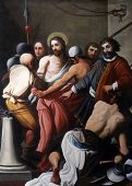 PARMA, ITALY - MAY 01, 2014: Ecce Homo, altar painting in the church of Saint Vitale. The church of