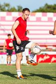 Sisaket Thailand-july 6: Nikola Nikezic Of Chainat Hornbill Fc. In Action During A Training Ahead Th