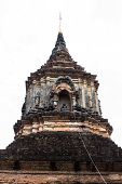 Isolated - Pagoda In Wat Lok Mo Lee , Chiangmai