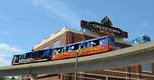 People Mover Past Greektown In Detroit, Mi