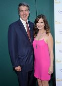 LOS ANGELES - JUL 08:  Kellie Martin & Keith Christian arrives to the Hallmark's