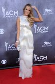 LOS ANGELES - APR 06:  Carrie Underwood arrives to the 49th Annual Academy of Country Music Awards